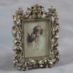 "Baroque Style Antique Silver Photo Picture Frame Gift 7""x5"""